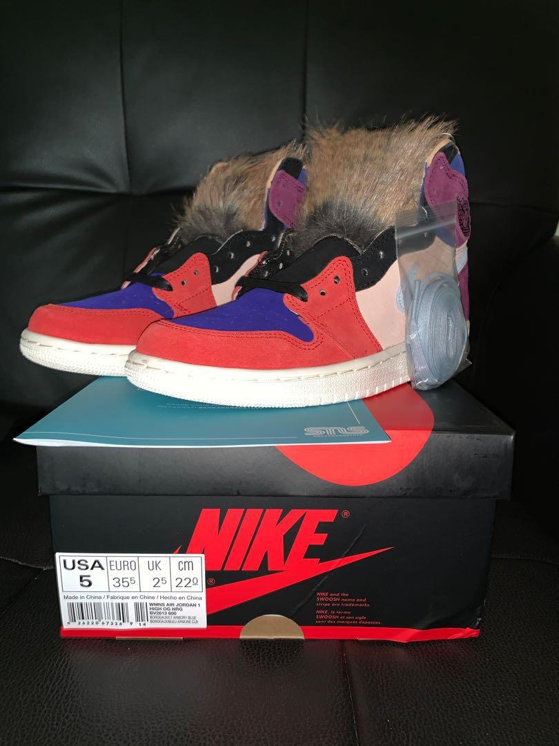 newest 6f9f0 29779 US5* Jordan 1 Aleali May Court Lux High on Carousell