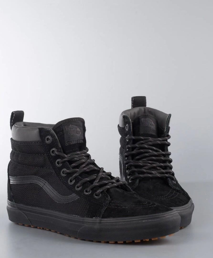 240a07b401 Vans all black sk8 high mte