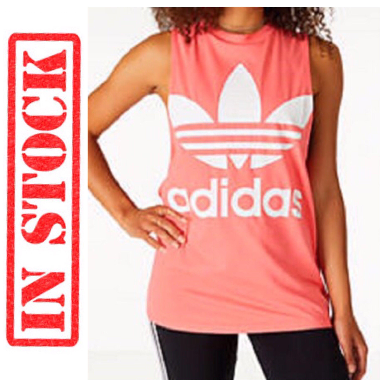 a90aa787cf9 Women's adidas Originals Trefoil Muscle Tank, Women's Fashion ...