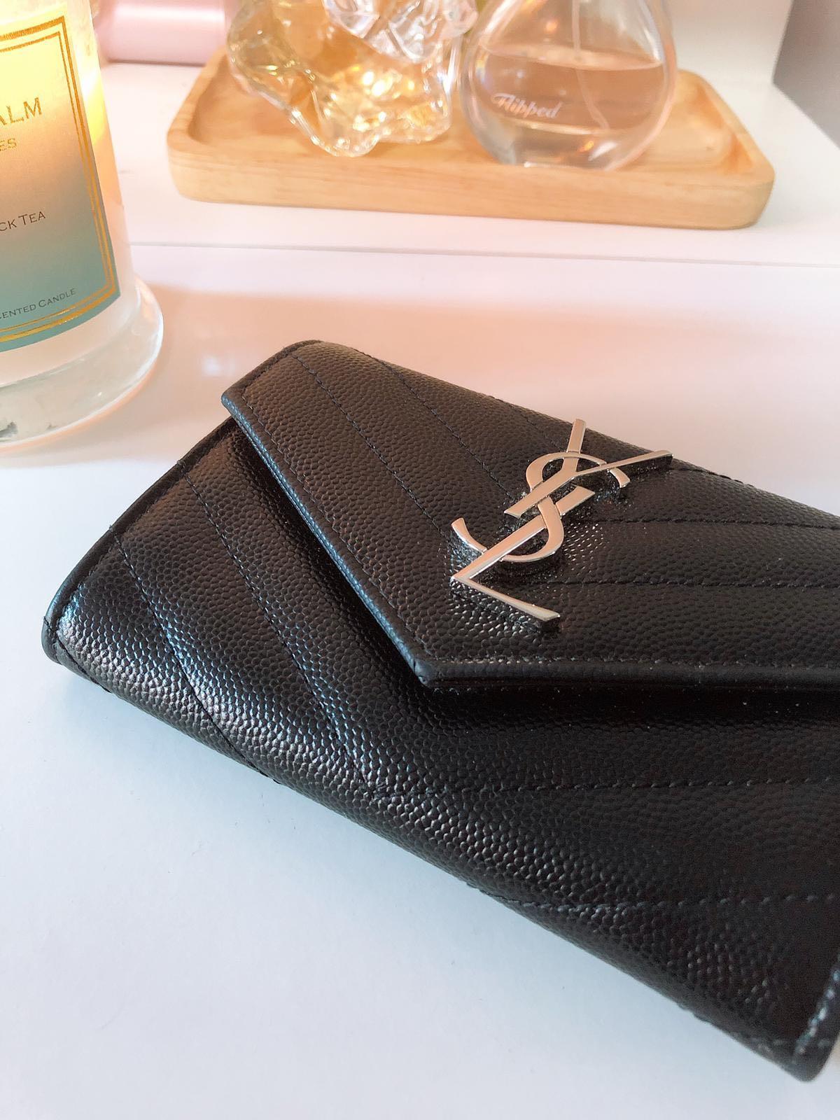 0e0cbca4fa0 YSL Small Monogram Envelope Wallet, Women's Fashion, Bags & Wallets, Wallets  on Carousell