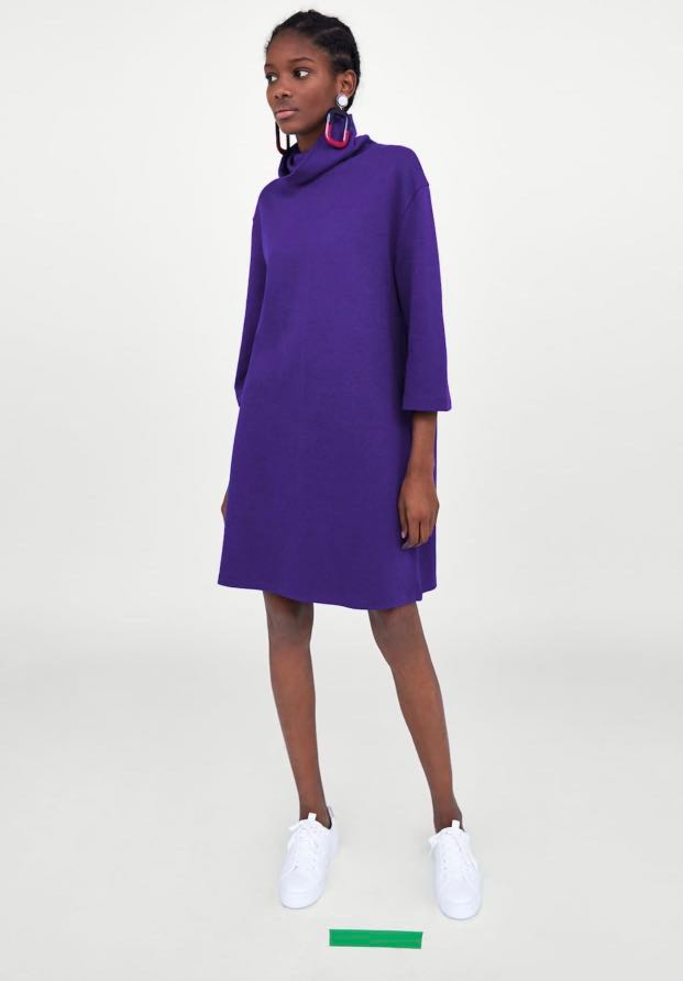 4687157c821 Zara purple turtleneck dress