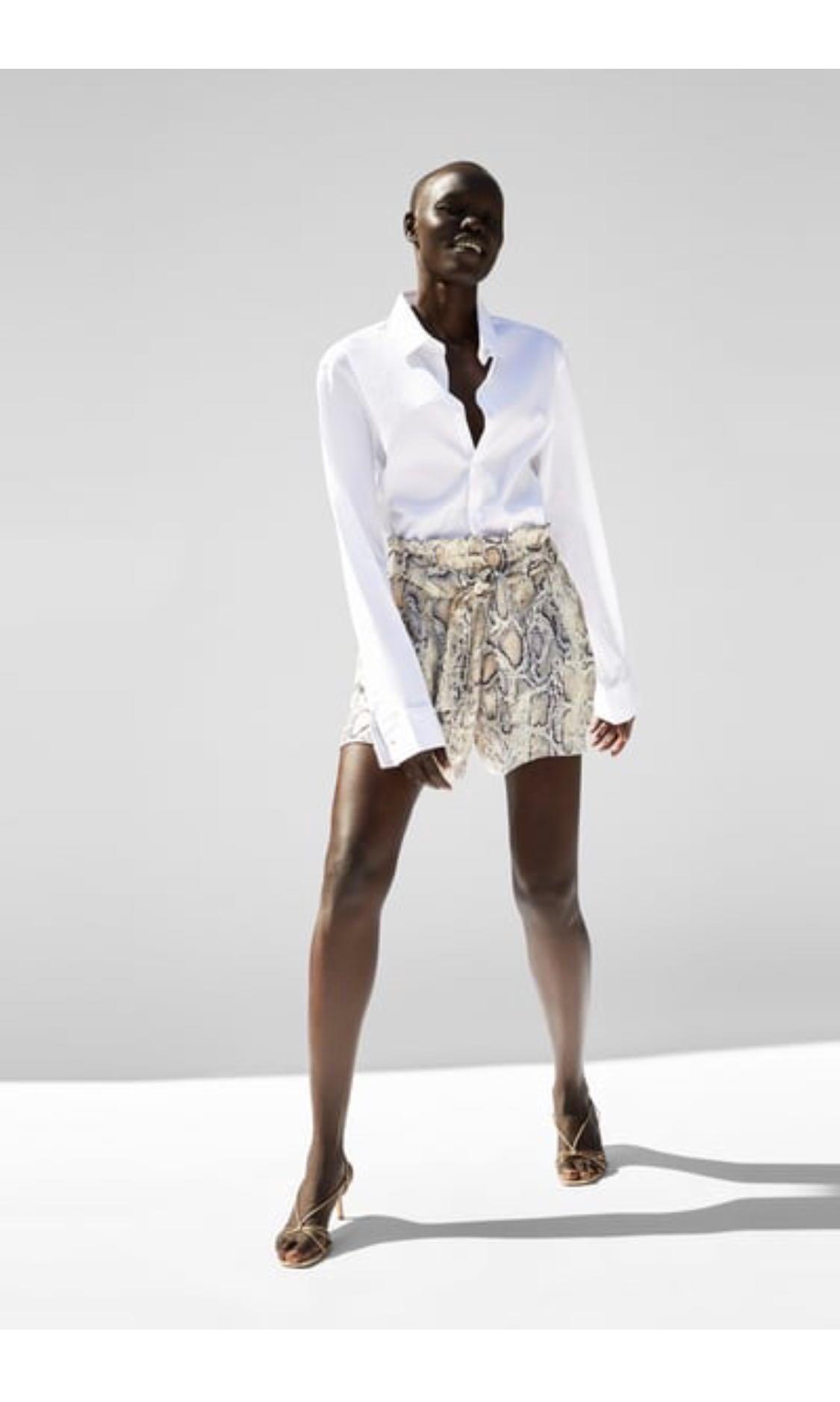 0cf96081 Zara Snakeskin Print Shorts on Carousell