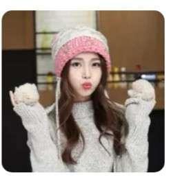 Knitted winter hat (woven cap Korean sweet K Pop fluffy scarf gloves jumpsuit wrap autumn uniqlo coat jacket shawl duffle bag hand luggage thermal sweater turtleneck woolen long john travel fur wear)