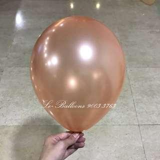 "12"" pearl series latex balloon - helium graded - rose gold"