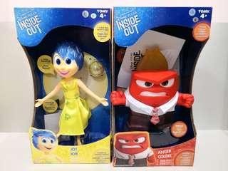 廸士尼TOMY Disney Pixar Inside Out Joy and Anger Figure with Sound and Accessories