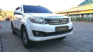 Toyota Fortuner G 2.7 AT 2013 bensin angs 2.5 jt