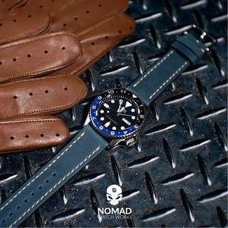 🚚 Quick Release Modern Leather Strap in Blue (Available in 20 and 22mm)