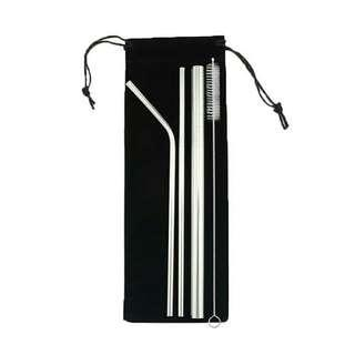 Stainless Straw Set of 4 (FREE Pouch)