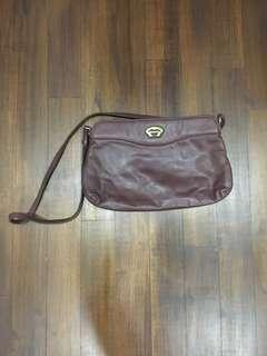 Vintage Aigner Leather Sling Bag