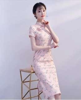 New Light Pink Cheongsam