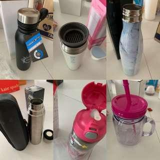 Various thermal bottles and cups