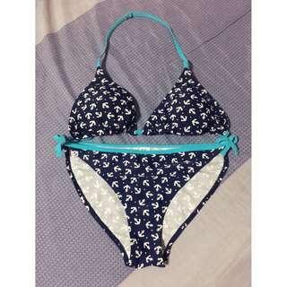 Navy Blue Anchor Bikini