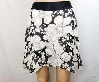 Banana republic silk floral skirt