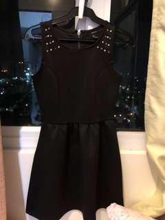 Forever 21 black dress with studs