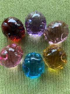 天然火山琉璃(一套6隻)