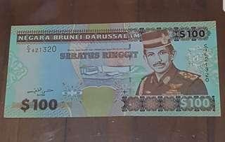 BRUNEI $100 Dollar Note
