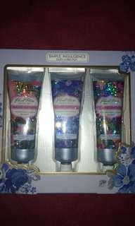 3 pcs. Of hand lotion ( assorted scents )