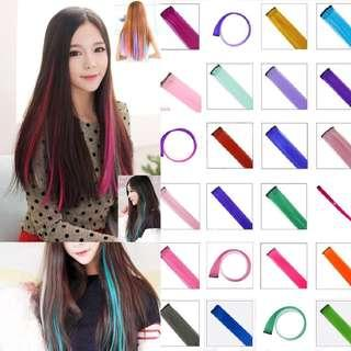 🔥[INSTOCKS] Korean Ulzzang Clip Gradient Multi-Colours Straight Hair Extensions