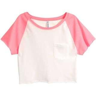 H&M Divided Neon Pink Top