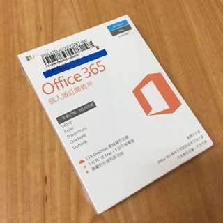 🚚 Microsoft Office 365 中文 個人版一年盒裝