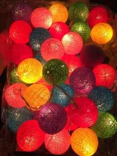 Pretty Colourful decorative lights - Balls, Shapes, Flowers