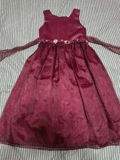 PRELOVED (WORN ONCE/SO PRETTY) MARSALA/BURGUNDY COLORED FORMAL SLEEVELESS DRESS