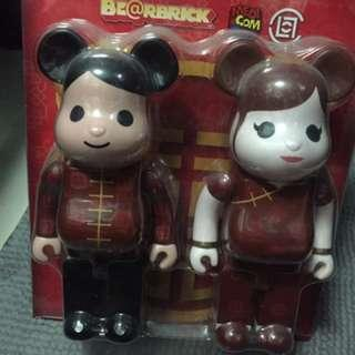 BEARBRICK X CLOT WEDDING SET 400%