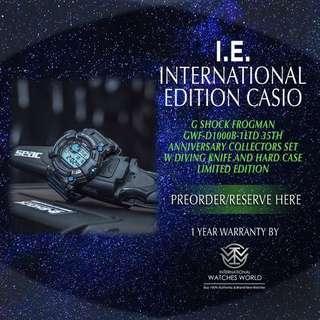 CASIO INTERNATIONAL EDITION G SHOCK FROGMAN COLLECTOR EDITION 35TH ANNIVERSARY LIMITED EDITION 350PCS GWF-D1000B-1LTD