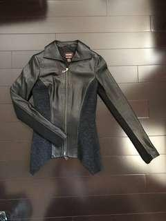 Daniel Lamb Wool Leather Jacket xxxs (fits xs-s)