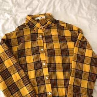 yellow plaid flannel