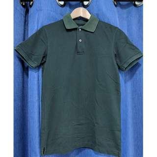 UNIQLO Dry Pique Short Sleeve Polo Shirt (dark green)