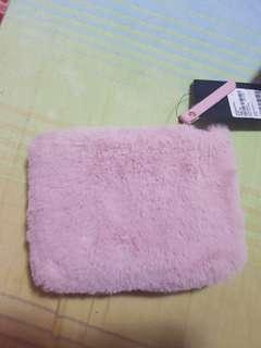 Forever 21 FUR BLUSH SMALL PURSE brand new with tag! authentic