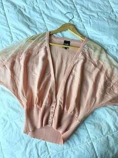 Simons Twik Pink Batwing Top