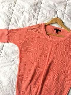 Forever 21 Coral Batwing Top
