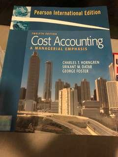 Cost accounting - a managerial emphasis 12 edition