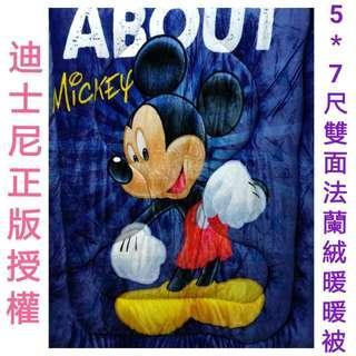 🚚 🇹🇼台灣製🇹🇼迪士尼正版5*7尺雙面法蘭絨暖暖被 Disney 加厚款 雙面圖樣∼可挑款(未含枕頭套及床包喔!)