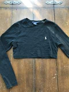 Polo cropped long sleeve