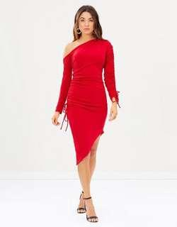 Blessed are the Meek Broadway Ruched Bodycon Dress HIRE