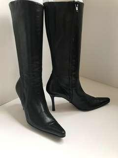 Sexy Gianni Milanesi Milano softest lamb black leather boots