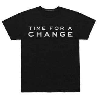 """Marc Jacobs """"Time for a change"""" Political T-Shirt Size Small"""