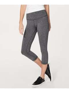 Lululemon Luxtreme high rise grey Crops leggings