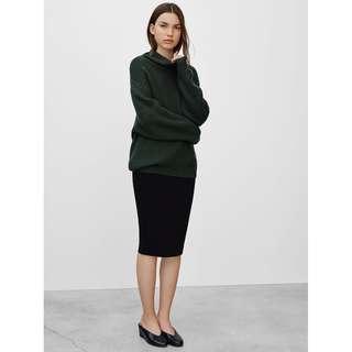 Aritzia Wilfred Lis Black Ponte Pencil Skirt XS