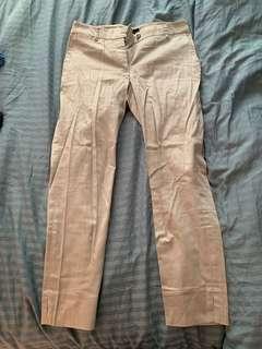 H&M beige ankle capris