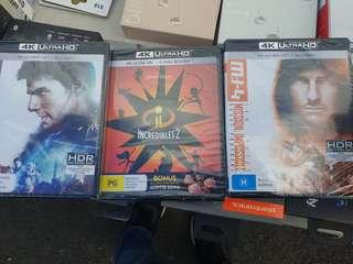 4k dvd 25 each
