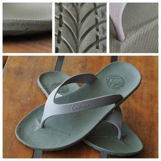 CAMOU Flipflops Green Sandal Jepit Pria Casual Warna Army