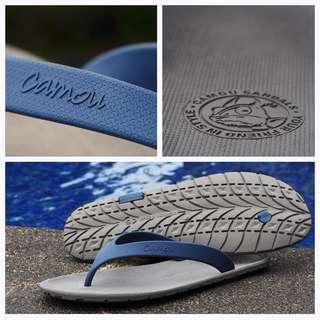 AMOU Flipflops Grey Sandal Jepit Pria Casual Bahan Karet Anti Panas