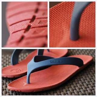 CAMOU Flipflops Red Blue Sandal Jepit Pria Casual Sehari-hari