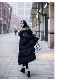 🚚 棉衣女中長款韓版寬鬆棉服過膝學生麵包服潮流