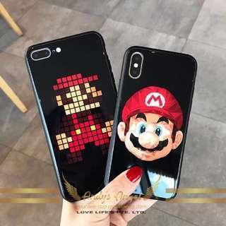 Super Mario Tempered Glass Phone Casing