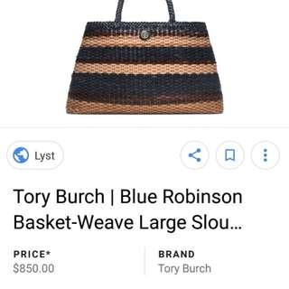 Tory Burch Large Weave Leather Bag